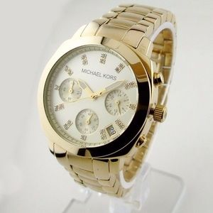 Michael Kors Gold Tone Ladies Chronograph Watch